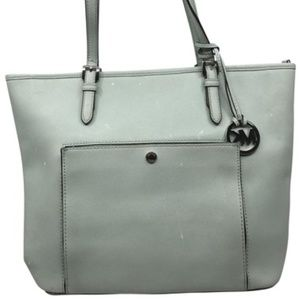 Michael Kors Light Green XL Leather Tote Bag